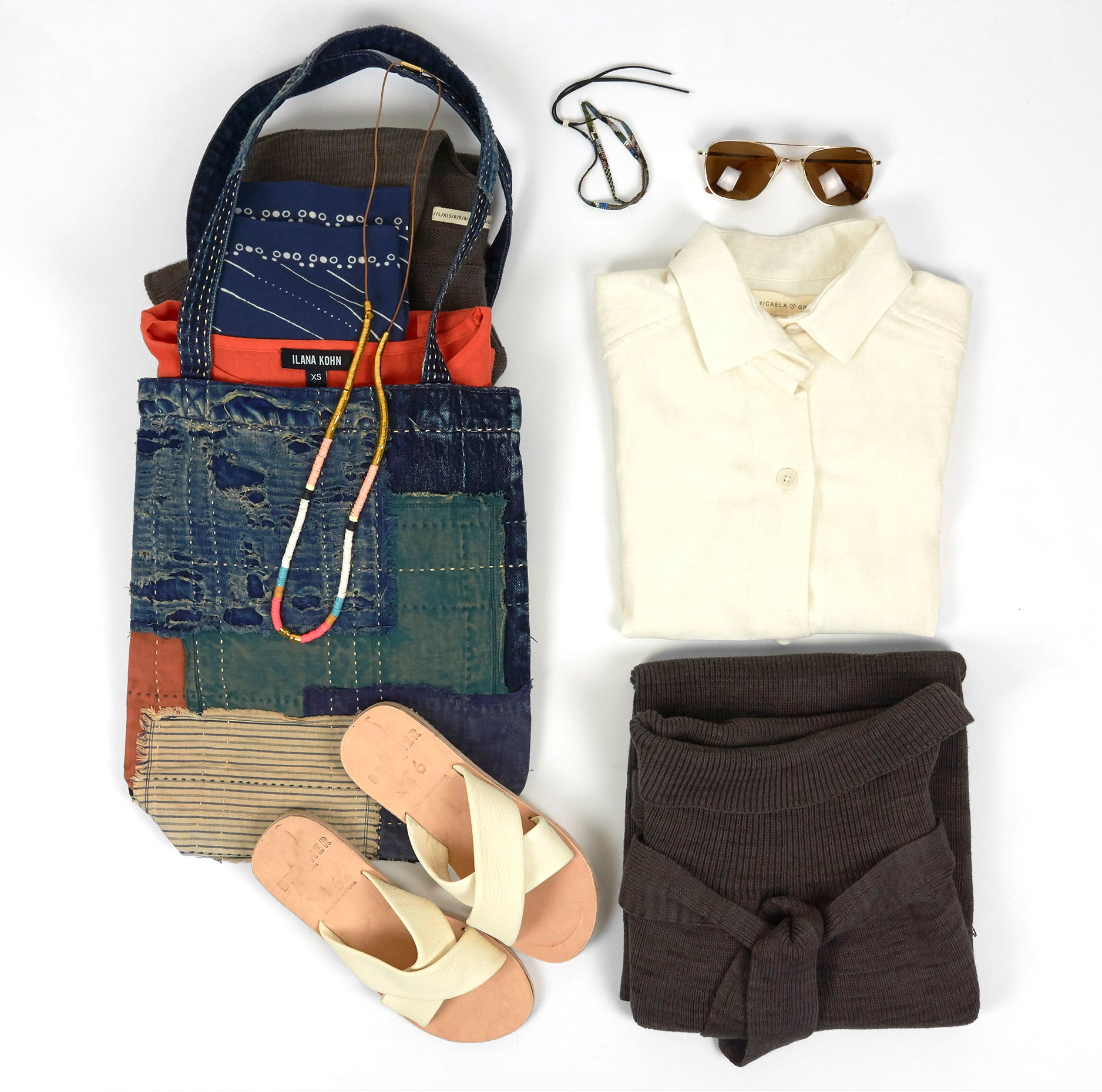 Covet and Lou—The Rambler—Spring Break Packing— Airport Outfit, Kapital Tote