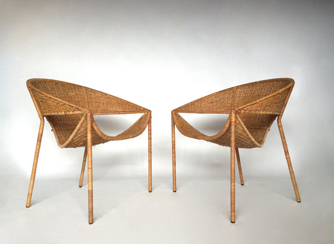 Wicker Scoop Chairs