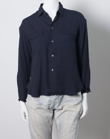Lova Blouse in Dark Blue