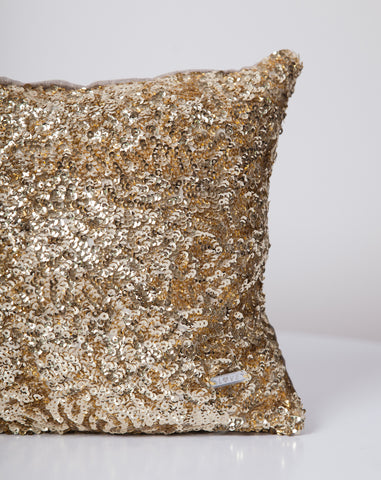 Sequins Pillow in Gold