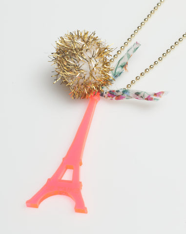 Pompom Eiffel Necklace