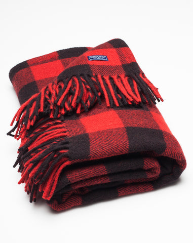 Buffalo Throw in Black and Red