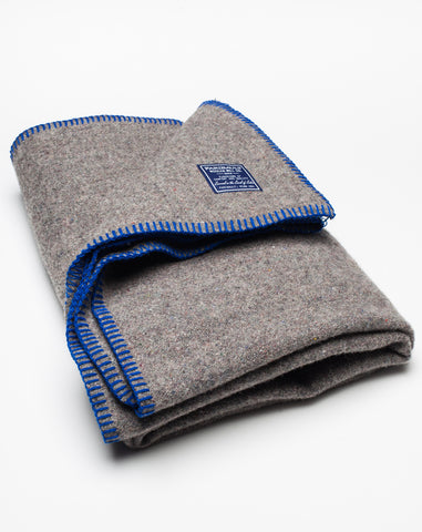 Recycled Blend Throw in Royal