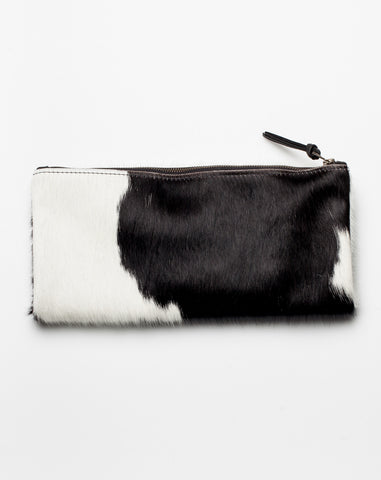 Foldover Clutch in Black and White