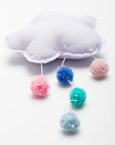 Small Pompom Cloud in Lavender