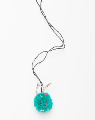 Pompom Liberty Necklace in Turquoise