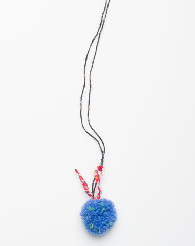 Pompom Liberty Necklace in Indigo