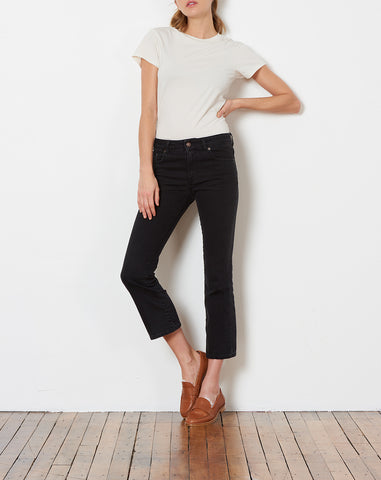 Mini Kick Jean in Black