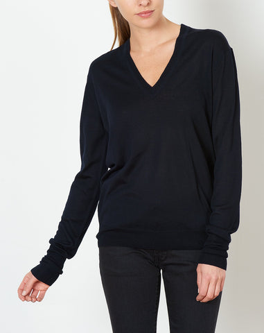Perfect V Neck in Navy