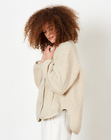 Curly Jacket in Dove