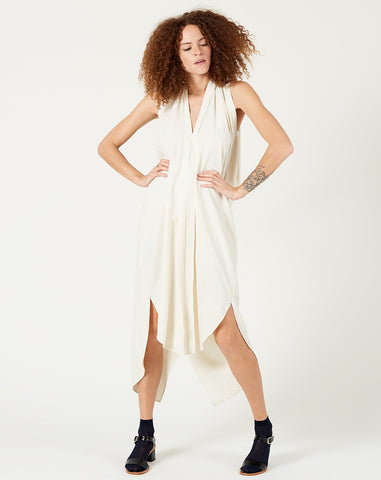 Origami Dress in Off-White