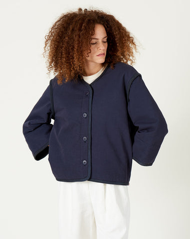 Spring Quilted Jacket in Navy