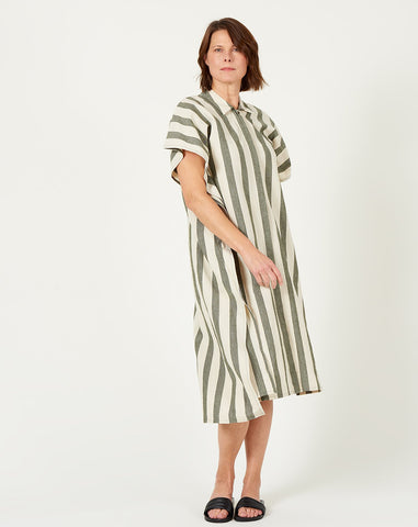 7115 by Szeki Light Stripe Swing Shirtdress