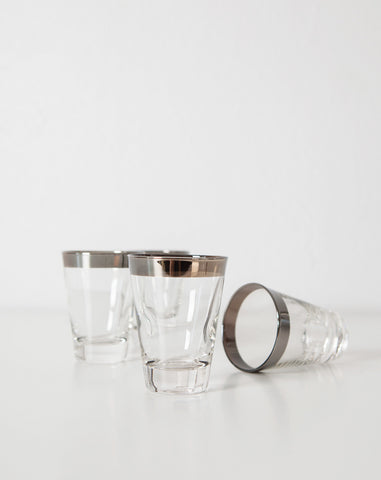 Silver Rimmed Shot Glasses