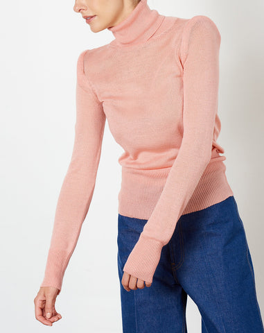 Carly Turtleneck in Blush