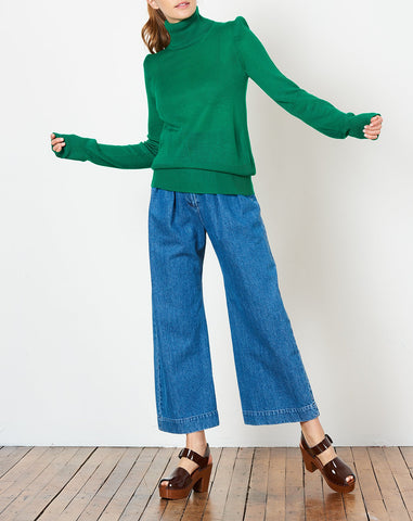 Carly Turtleneck in Emerald