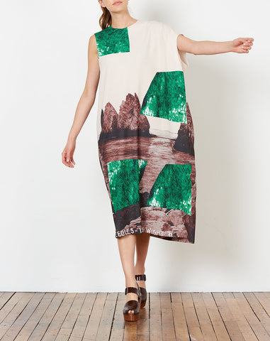 Danuta Dress in Rocks Print