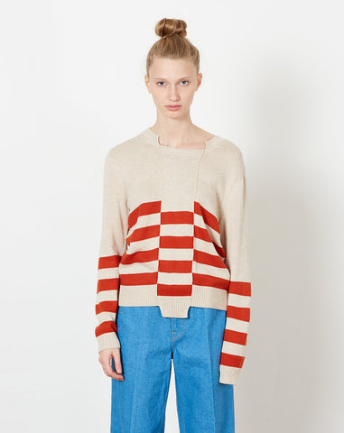 Keats Pullover in Cream and Rust