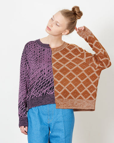Kenny J Pullover in Jacquard Multi