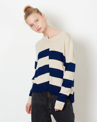 Kenny Pullover in Cream and Navy