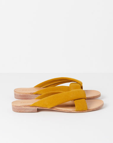 Pipit Sandals in Citron Suede