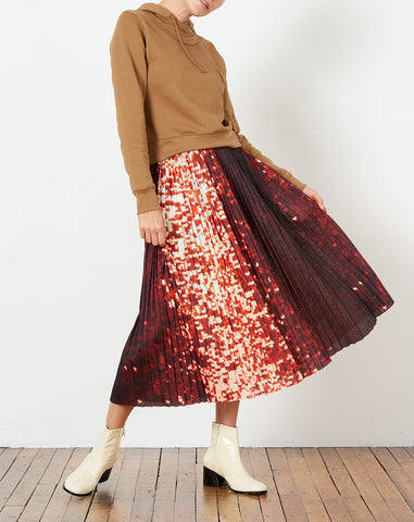 Seraphina Skirt in Sequin Print Athletic Mesh