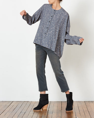 Tereska Top in Haze Print Grey