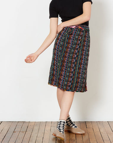Wrap Skirt in Kaleidoscope and Dream