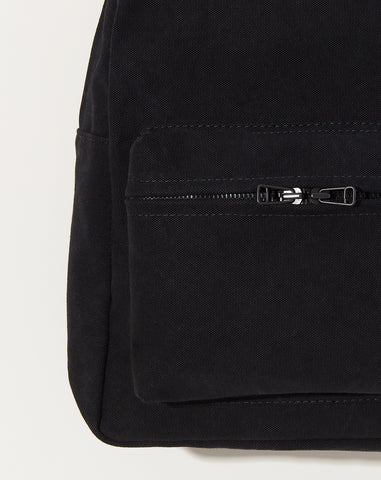 Washed Canvas Backpack in Black