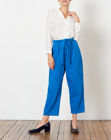 Big Pant in Bleach and Dyed Blue
