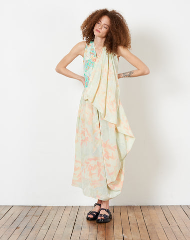 Drape Dress in Print Y Rose Pale