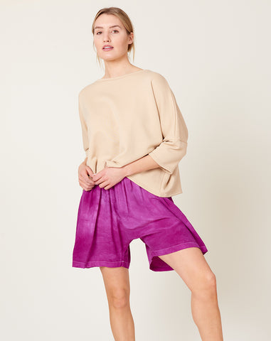 Silk Shorts in Purple