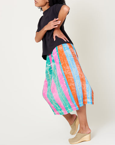 Skirt in Fake Jean Stripe