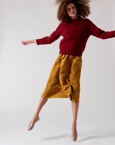 Wicklow Sweater in Rouge Fonce