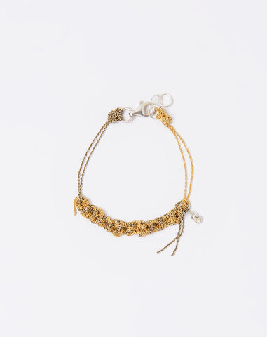 Two Tone Bare Chain Bracelet in Gold and Haze
