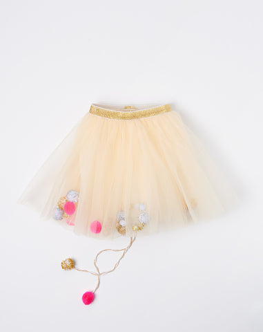 Les Pompoms Tutu in Gold