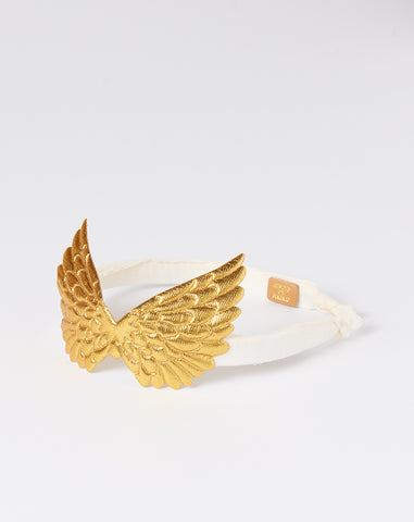 Pegasus Headband in Gold and Ivory