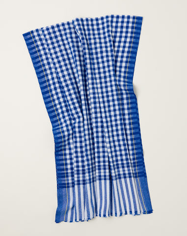 Gamcha Towel in Blue Check
