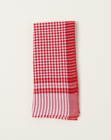 Gamcha Towel in Red Gingham