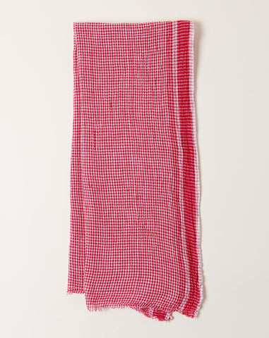 Gingham Scarf in Red