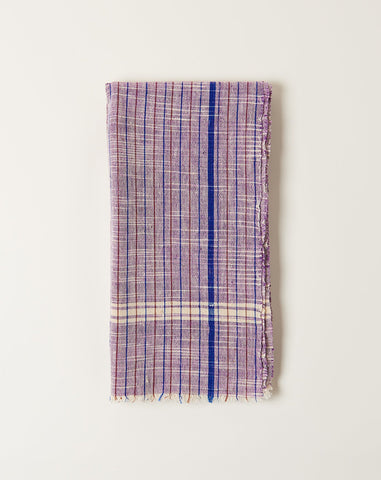 Rustic Pinstripe Towel in Purple
