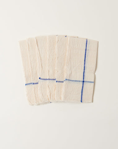 Natural Napkin Set in Blue