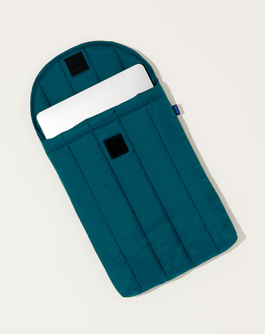Puffy Laptop Sleeve in Malachite