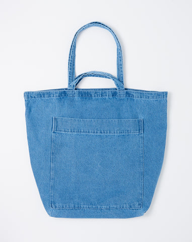 Giant Pocket Tote in Light Denim