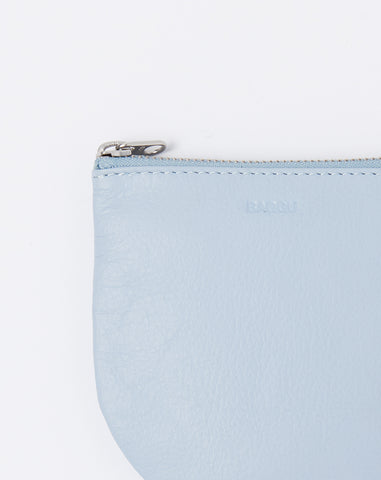 Small U Pouch in Soft Blue
