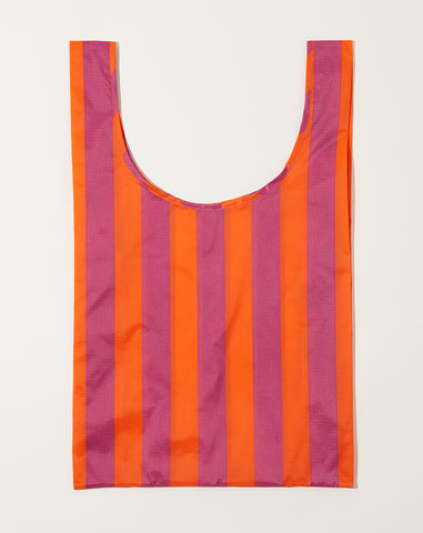 Standard Baggu in Orange and Mauve Stripe
