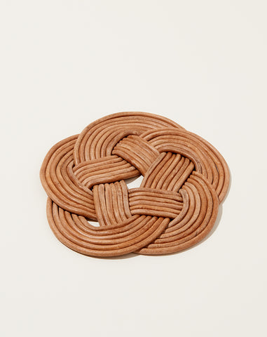 Large Knotted Leather Trivet