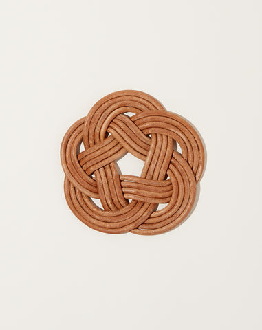 Small Knotted Leather Trivet
