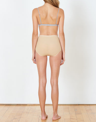Highwaist Bell Pants in Wide Rib Carl Johan Nude