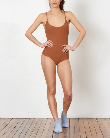 Grace Rib Bodysuit in Sahara Sand